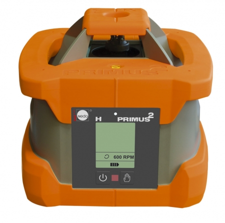 PRIMUS 2 H s přijímačem ACCEPTOR pro+ pro vodorovnou rovinu s urovnáním pomocí servomotoru