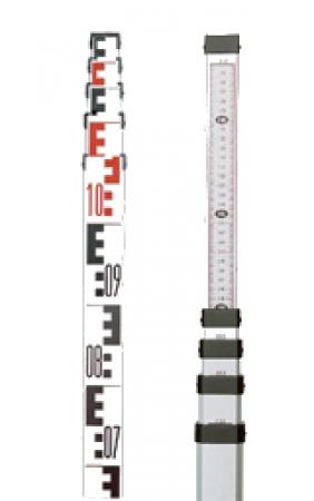 Nivelační lať NL4 s délkou 4 m a pouzdrem