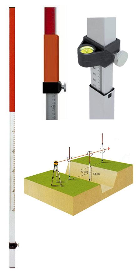Laserová lať NL20 s délkou 2.4 m, fotografie 5/4