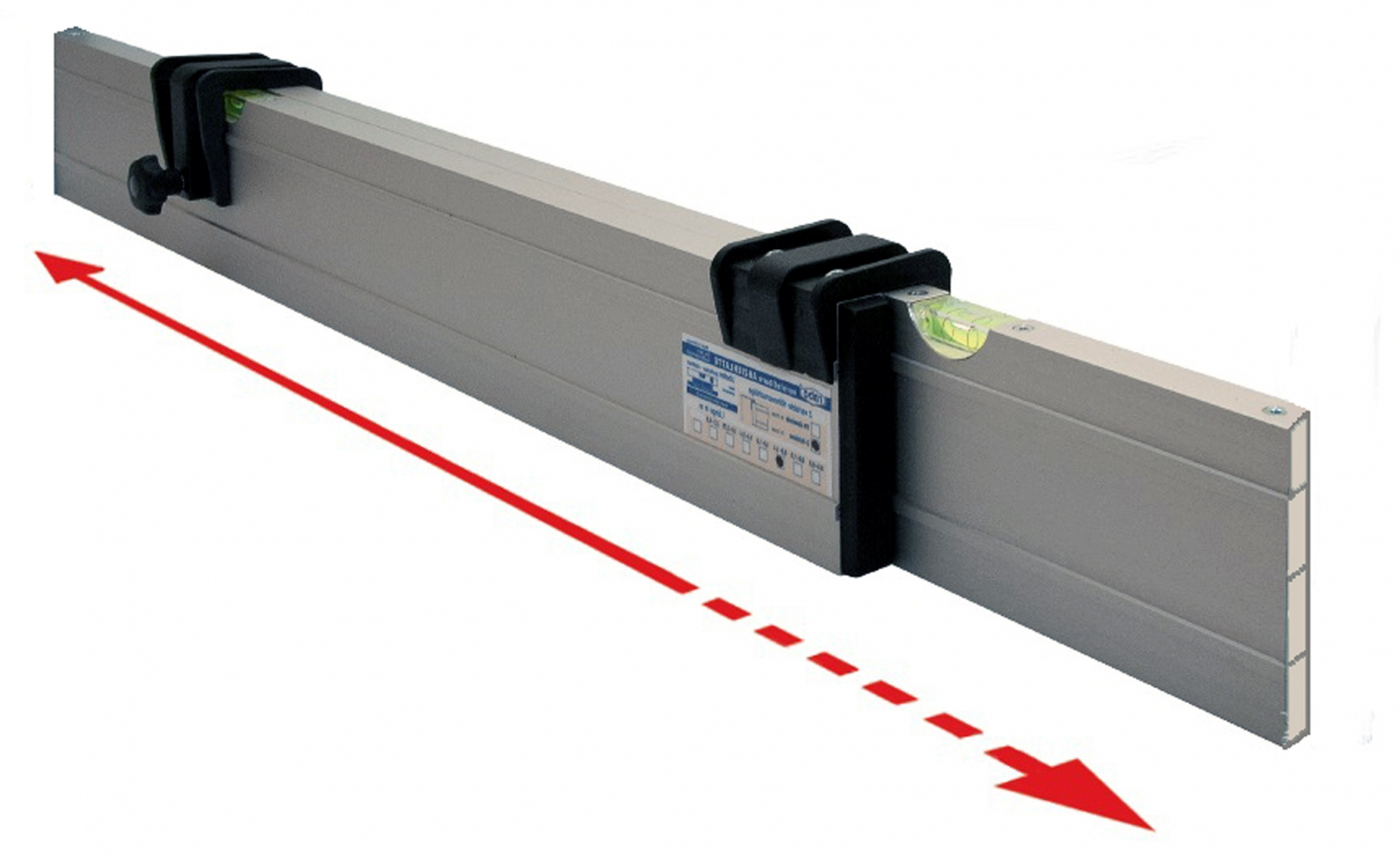 Nivelo NL40 nastavitelná stahovací lať s pracovní délkou 2.3 - 4 m