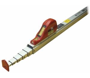 Kvalitní měřící výsuvná lať Telefix 3 m s okénkem pro odečet nahoře