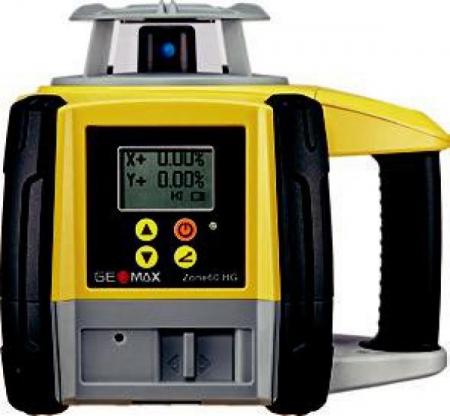 Geomax ZONE60 HG pro vodorovnou rovinu a digitální sklon v ose X a Y do +/- 8 %