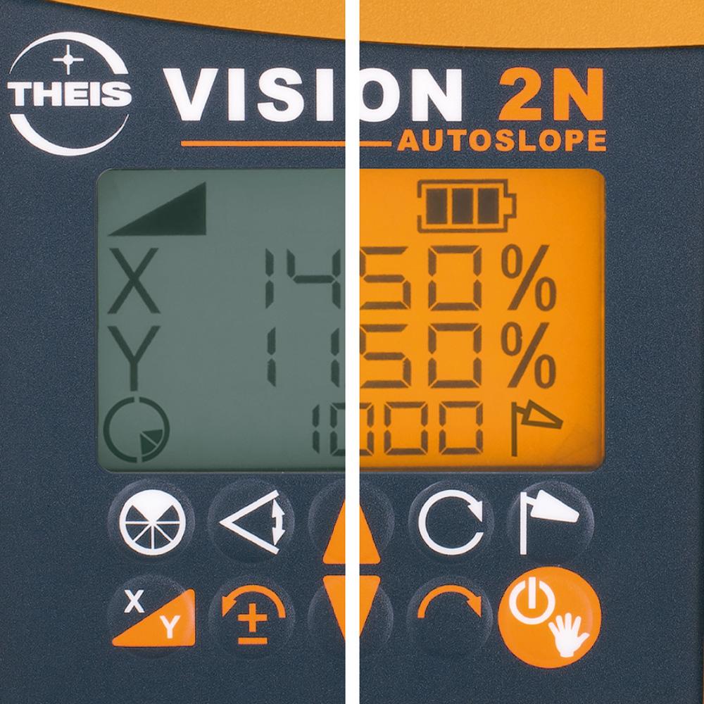 VISION 2N AUTOSLOPE + přijímač FR45 + dálkové ovládání FB-V pro vodorovnou rovinu s automatickým dorovnáváním nastaveného sklonu osy X a Y, fotografie 5/5