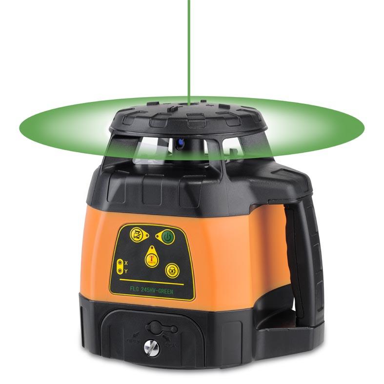 Zelený rotační laser FLG 245HV Green pro vodorovnou i svislou rovinu a sklon v osách X a Y