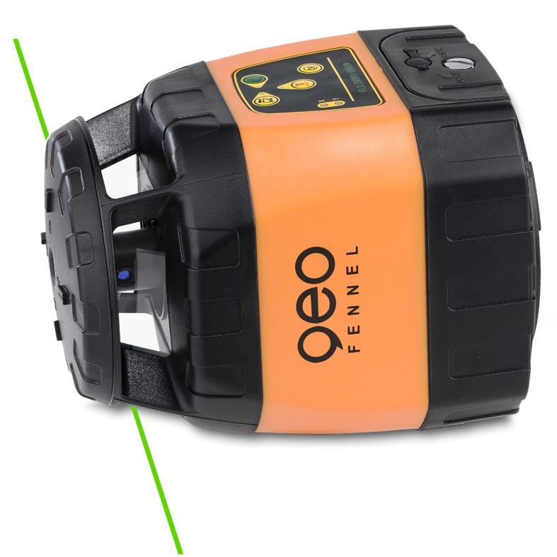 Zelený rotační laser FLG 245HV Green pro vodorovnou i svislou rovinu a sklon v osách X a Y, fotografie 3/4