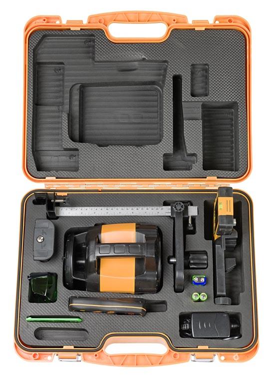 Zelený rotační laser FLG 245HV Green pro vodorovnou i svislou rovinu a sklon v osách X a Y, fotografie 5/4