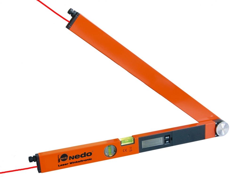 Profi digitální úhloměr LaserWinkeltronic 2 s délkou ramene 60 cm a 2x laserovým modulem