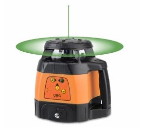 Zelený rotační laser FLG 245HV Green TRACKING pro vodorovnou i svislou rovinu a sklon v osách X a Y