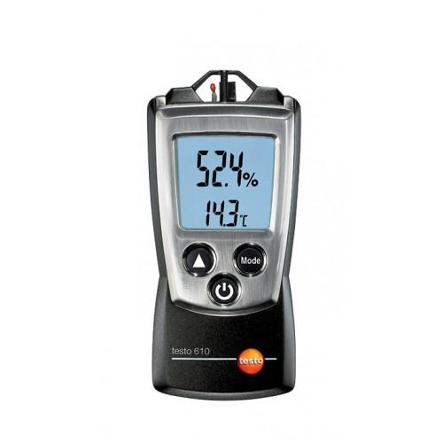 Vlhkoměr/teploměr Testo 610 pro měření vlhkosti a teploty vnitřního klima