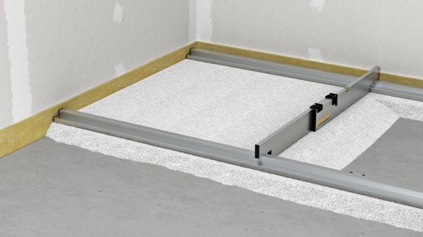 Nivelo BASIS set pro podlaháře sestávající z 1 nastavitelné latě a 2 stahovacích kolejnic, fotografie 11/9