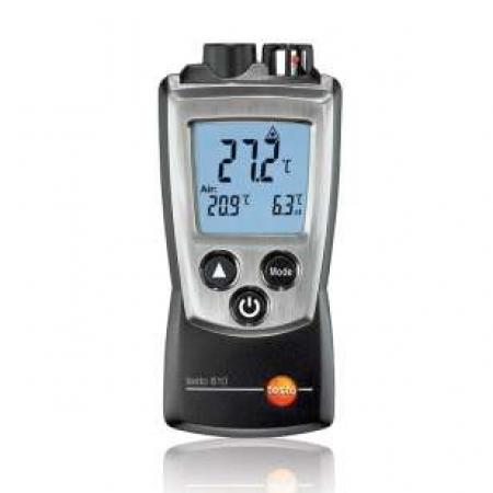 2 kanálový teploměr Testo 810 pro měření teploty okolního vzduchu a bezkontaktní měření teploty povrchu