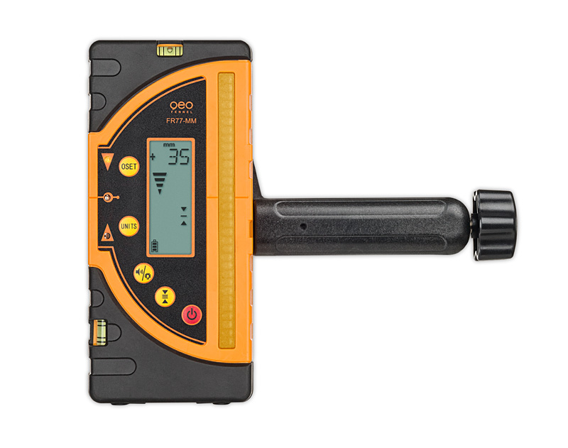 Kombi přijímač FR 77-MM pro lasery s červeným i zeleným paprskem a zobrazením výšky v mm, fotografie 5/5