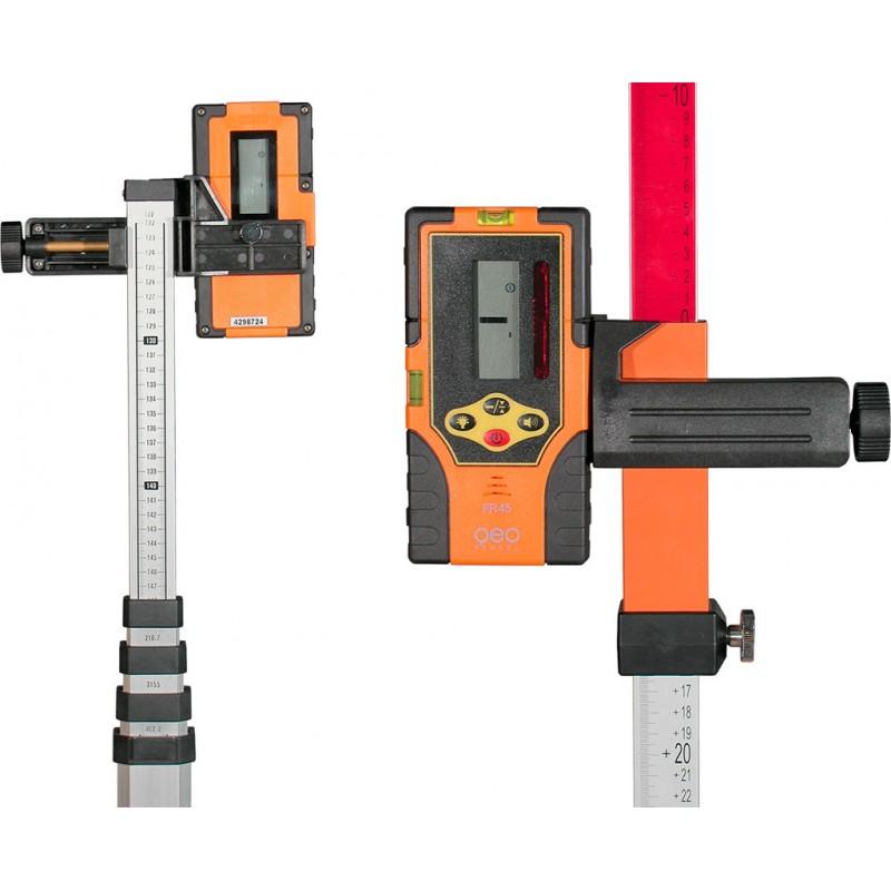 Přijímač FR45 pro rotační lasery s červeným i zeleným paprskem, fotografie 9/5