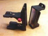 Stěnový dvojdílný držák NWM-802 pro připevnění liniových laserů na zeď, kovové profily, trubky, stativy či kovové součásti, fotografie 11/9