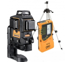 Set liniového laseru Geo6X-Green s přijímačem FR 55 a klikovým stativem FS 10
