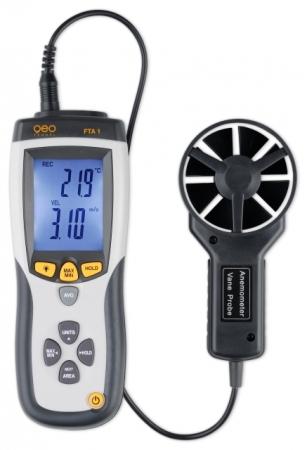 Měřič rychlosti, průtoku a teploty vzduchu FTA 1