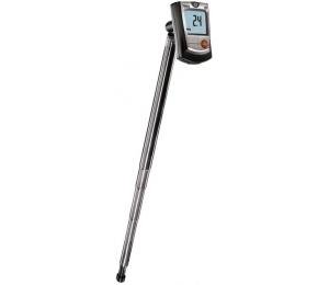 Kapesní termo-anemometr Testo 405 měří rychlost proudění, objemový průtok a teplotu