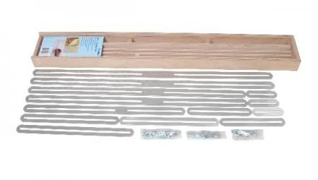 Úhelníková šablona T510 se 13 hliníkovými kolejnicemi