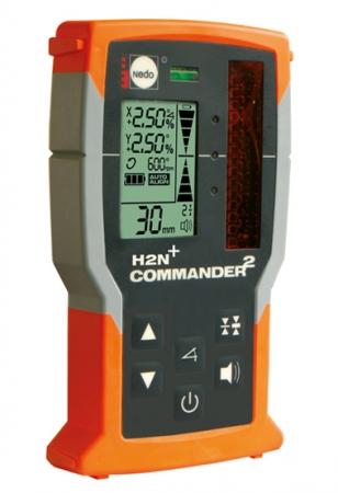 Přijímač / dálkové ovládání COMMANDER 2 pro lasery s červeným paprskem se zobrazením výšky v mm
