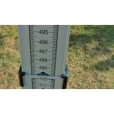 Kvalitní teleskopická měřící výsuvná lať Telemat H 5 m pro měření světlých výšek se sklopným hákem 70 cm, fotografie 7/5