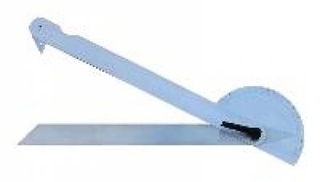 Velký mechanický XXL úhelník T600 se stupnicí 0-165°, váhou 3 kg a s délkou ramene 69 cm