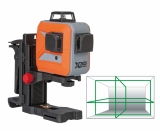 X-Liner 3D Green je zelený laser vytvářející 3x360° laserové linie kolem celé místnosti  s přesností +/- 3mm / 10m a dosahem 25m, fotografie 5/5