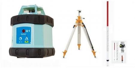 Sada Q1B2 = rotační laser + klikový stativ a lať