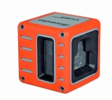 Cube je červený křízový laser s přesností +/- 3mm / 10m a dosahem 25m, fotografie 1/5