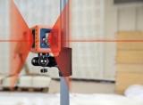 Cube je červený křízový laser s přesností +/- 3mm / 10m a dosahem 25m, fotografie 9/5
