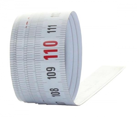 X111 samolepící měřící páska pro montáž na stoly a stroje o délce 1m se škálováním zprava doleva