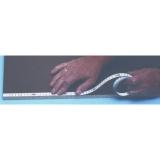 X151 samolepící měřící páska pro montáž na stoly a stroje o délce 5m se škálováním zprava doleva, fotografie 3/3